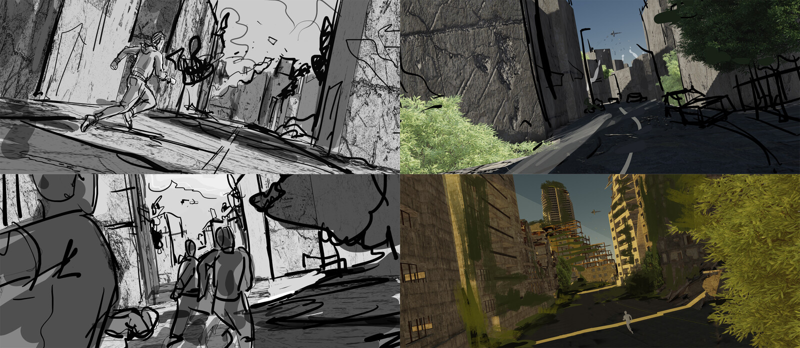 A bunch of sketches at various levels of scrappiness