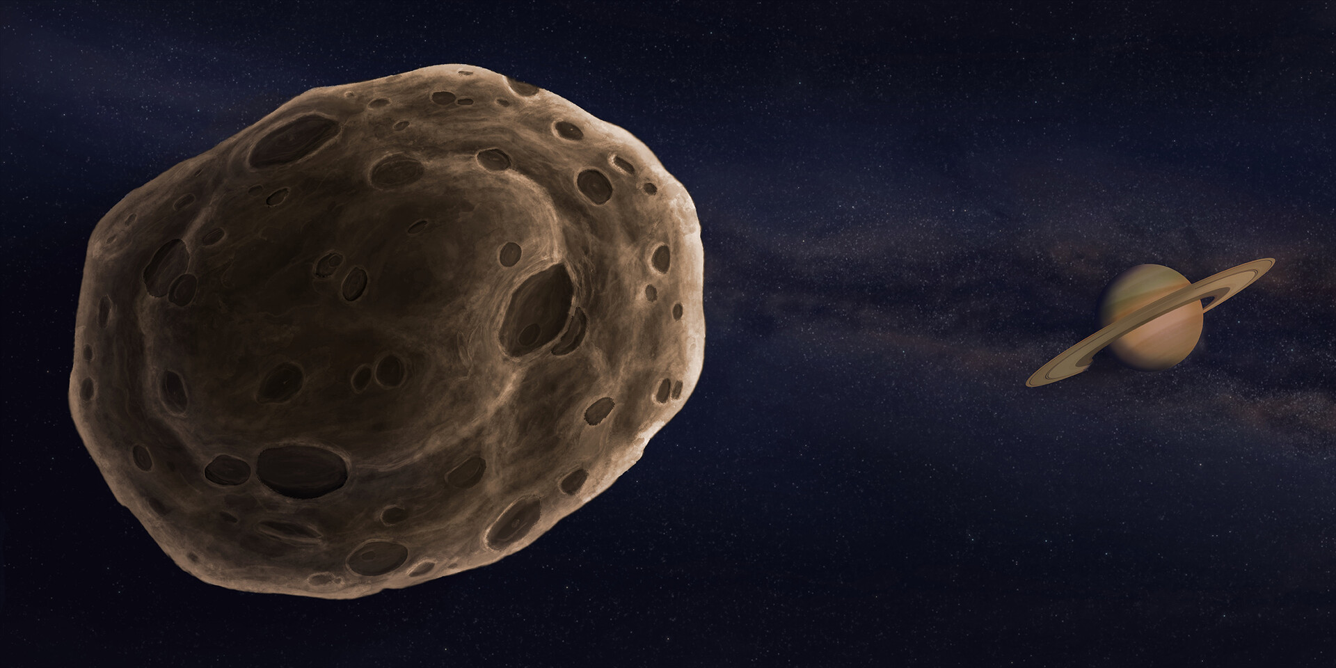 Part 2 - Meteoroid (or asteroid) passing near Saturn before heading to Earth.