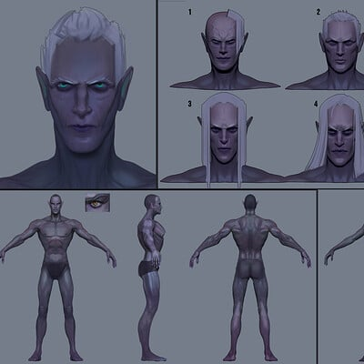 Drakhas oguzalp donduren dark elf race design