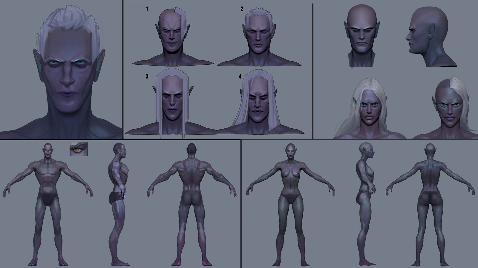 Dark Elf Race Designs
