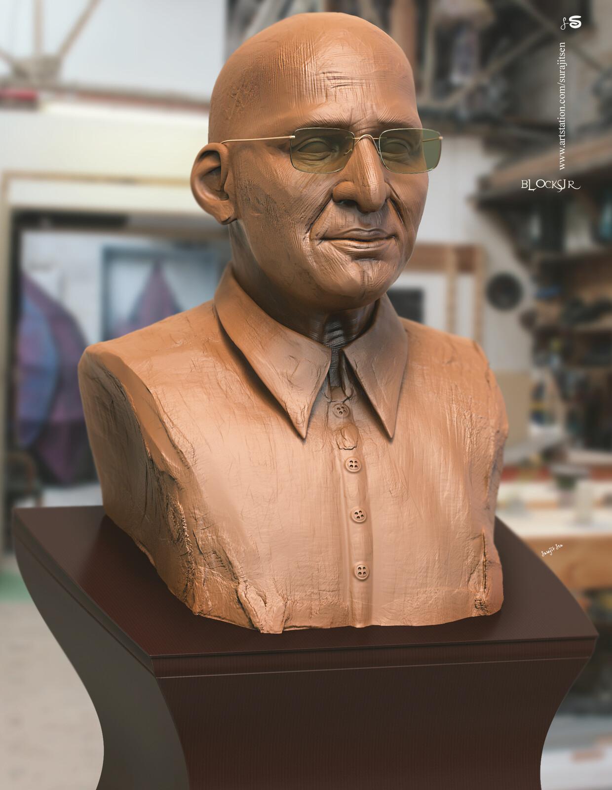 Wish to share my free time Digital Sculpting study... Human Head Sculpture Blocking SJR.
