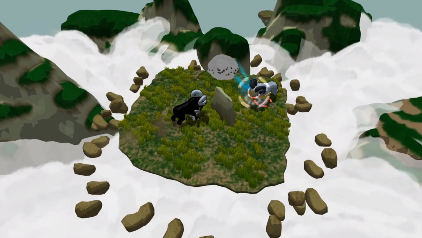 In-game screenshot of the ram with both original color scheme and alternate color scheme