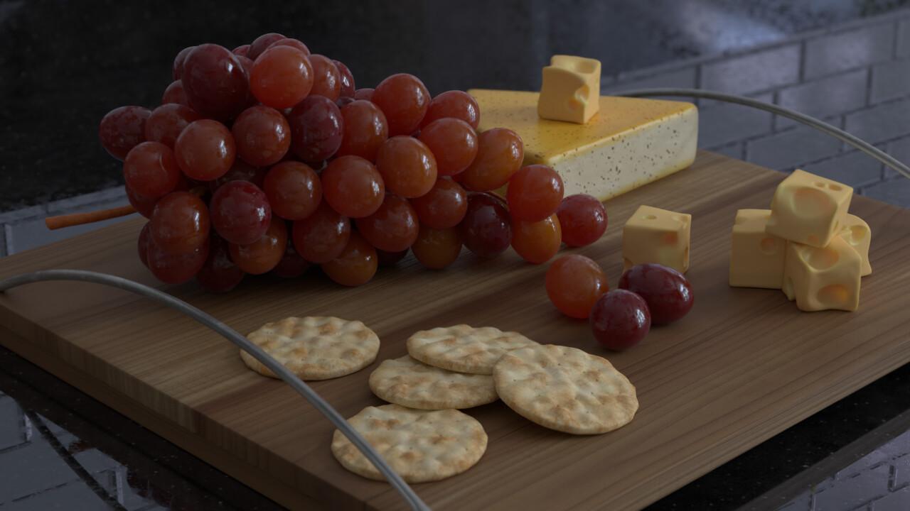 Cheese platter not eaten, fresh.