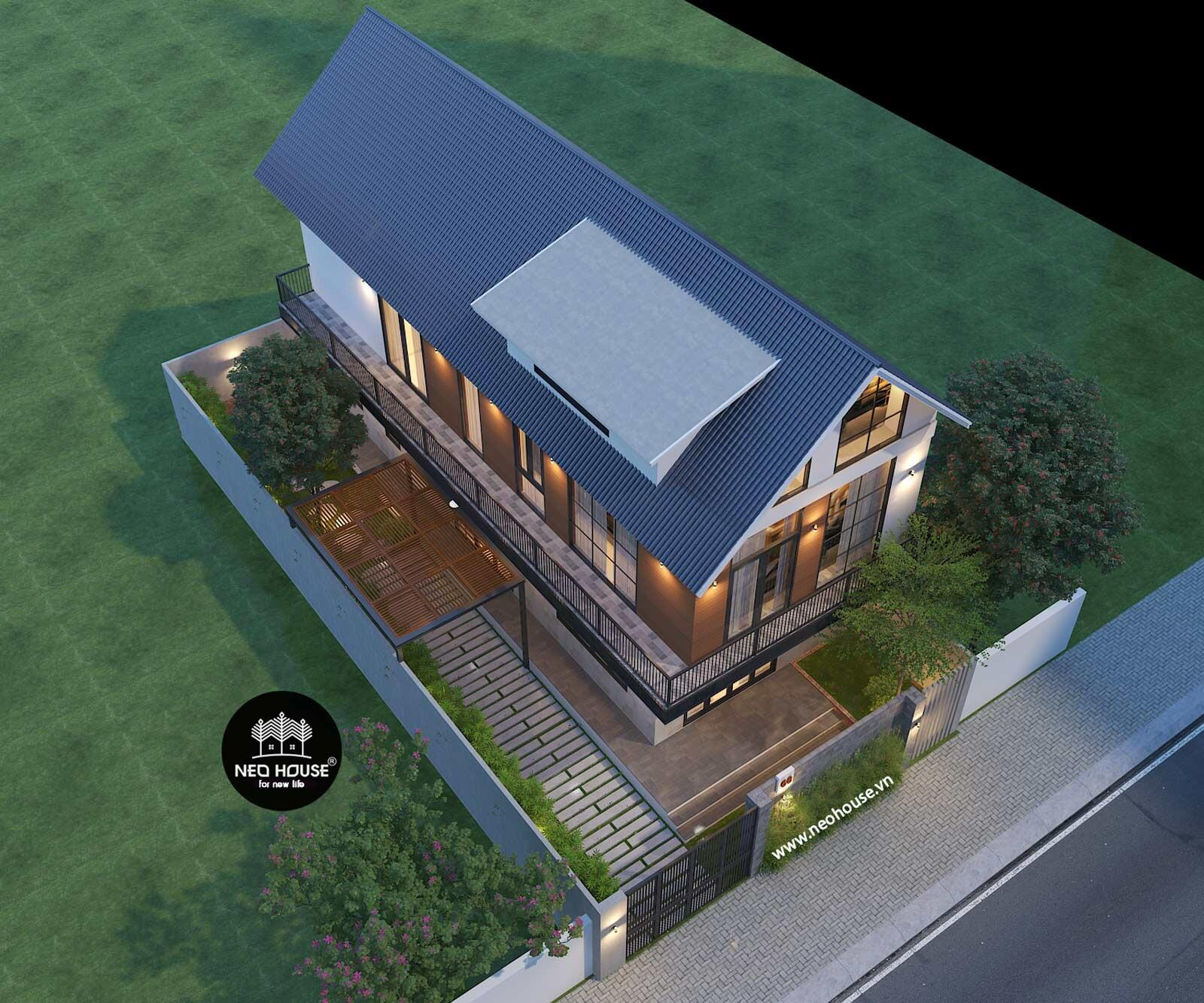 Biệt thự hiện đại đẹp 2 tầng. Ảnh 3