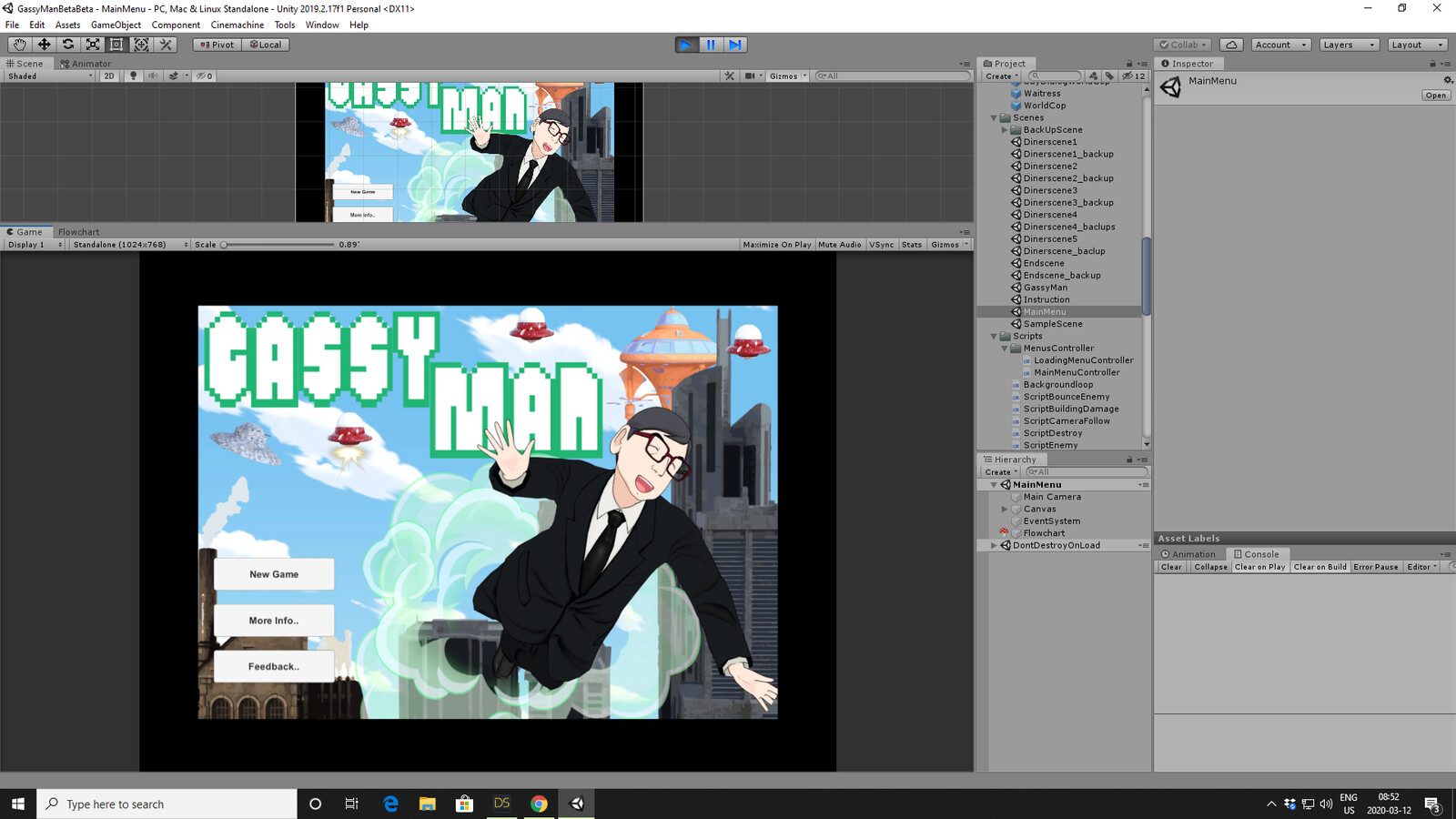 Gassy Man WIP screenshots