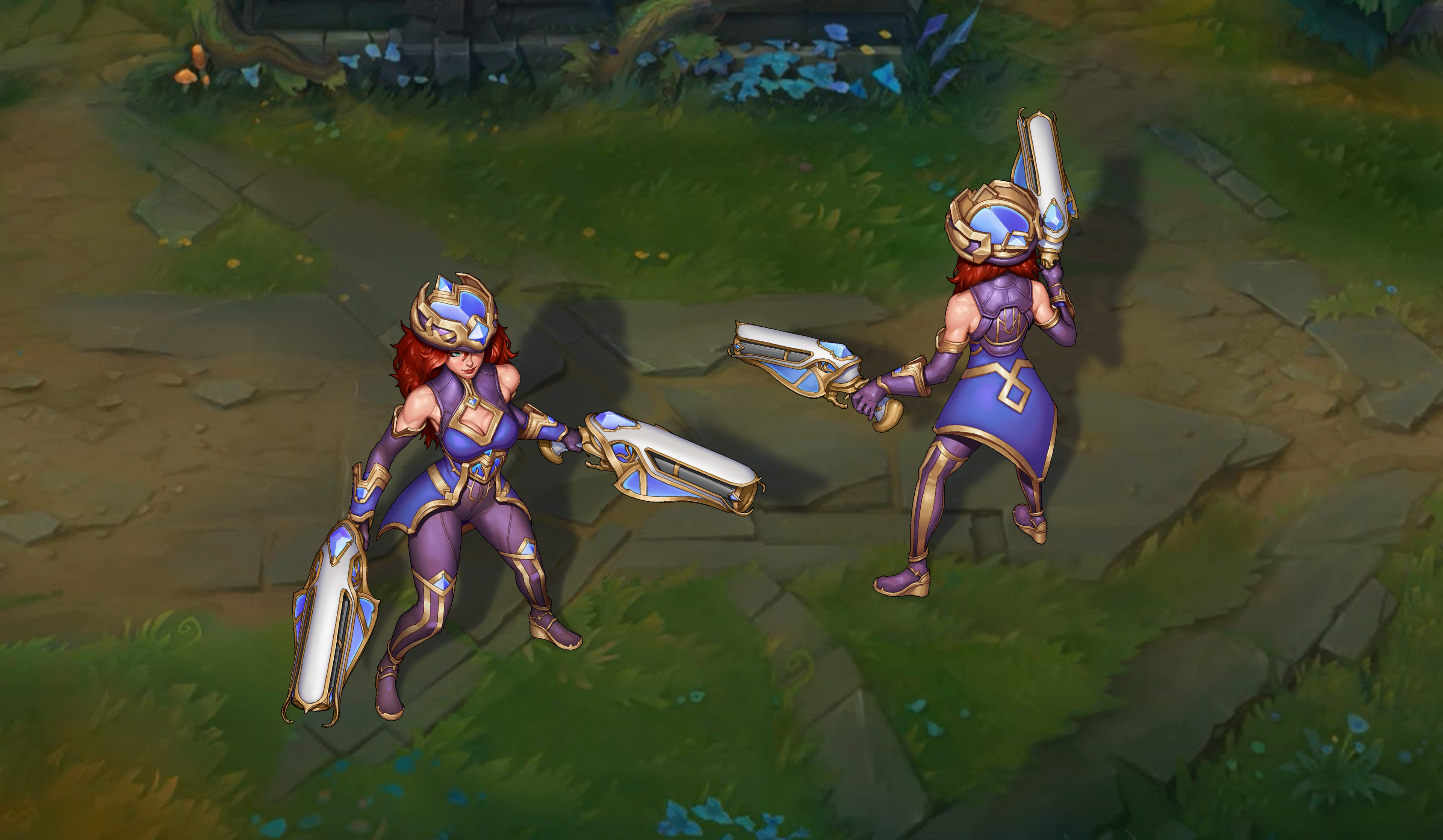 Final design.  Went with the more obviously hextech color scheme and simplified the details.