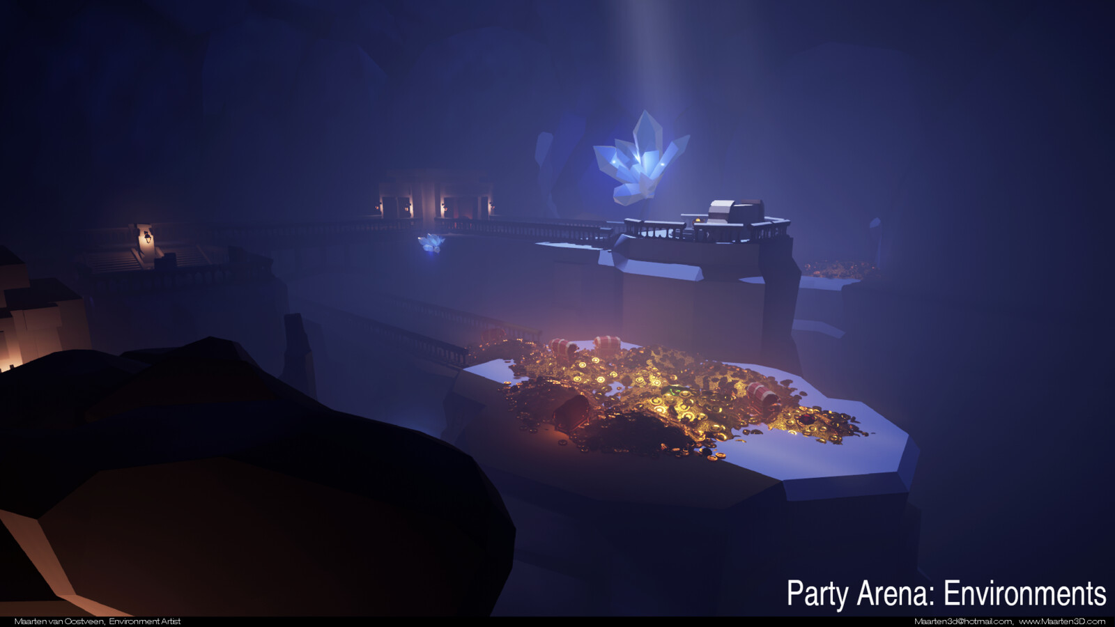 Party Arena Environment art.