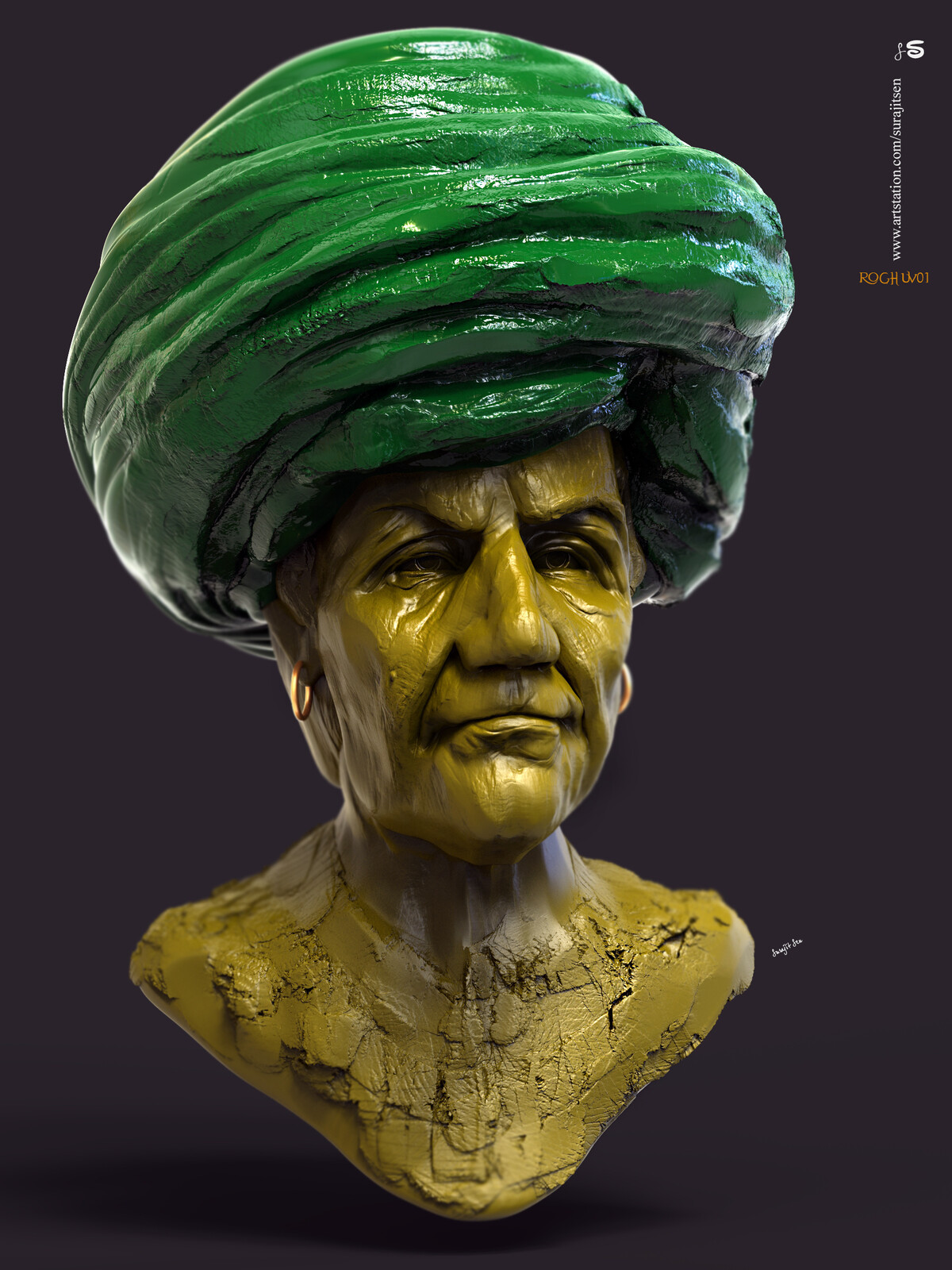 One of my Digital Sculptures... Played with brushes. Raghu02