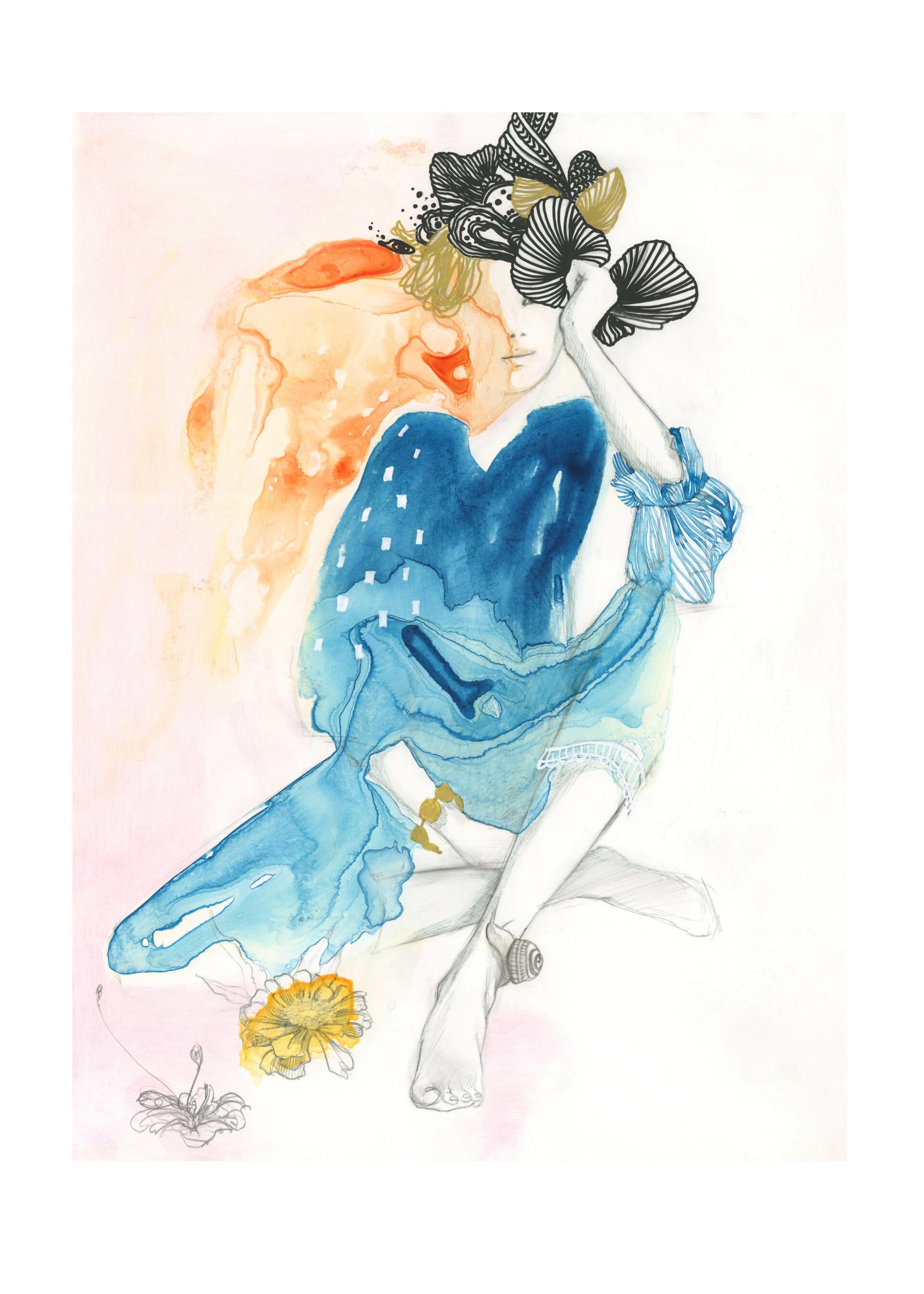 Liquid - fashion illustration