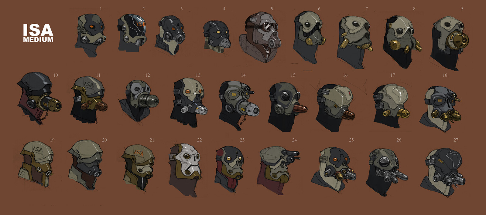 Assorted helmets. Some of these were salvaged and repurposed by Mass Effect.
