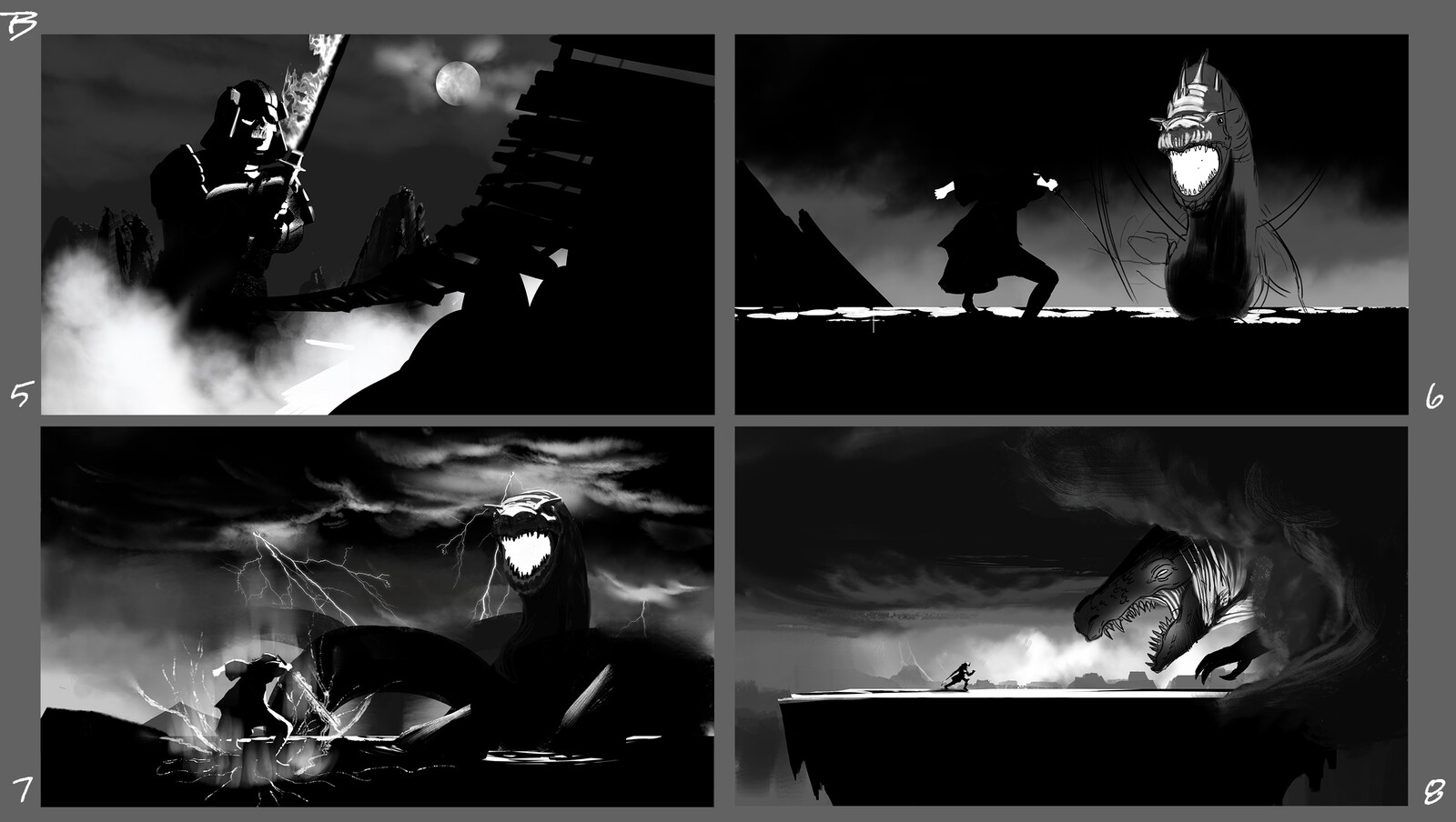 Storytelling & composition exploration. Took B7 to a final finish.