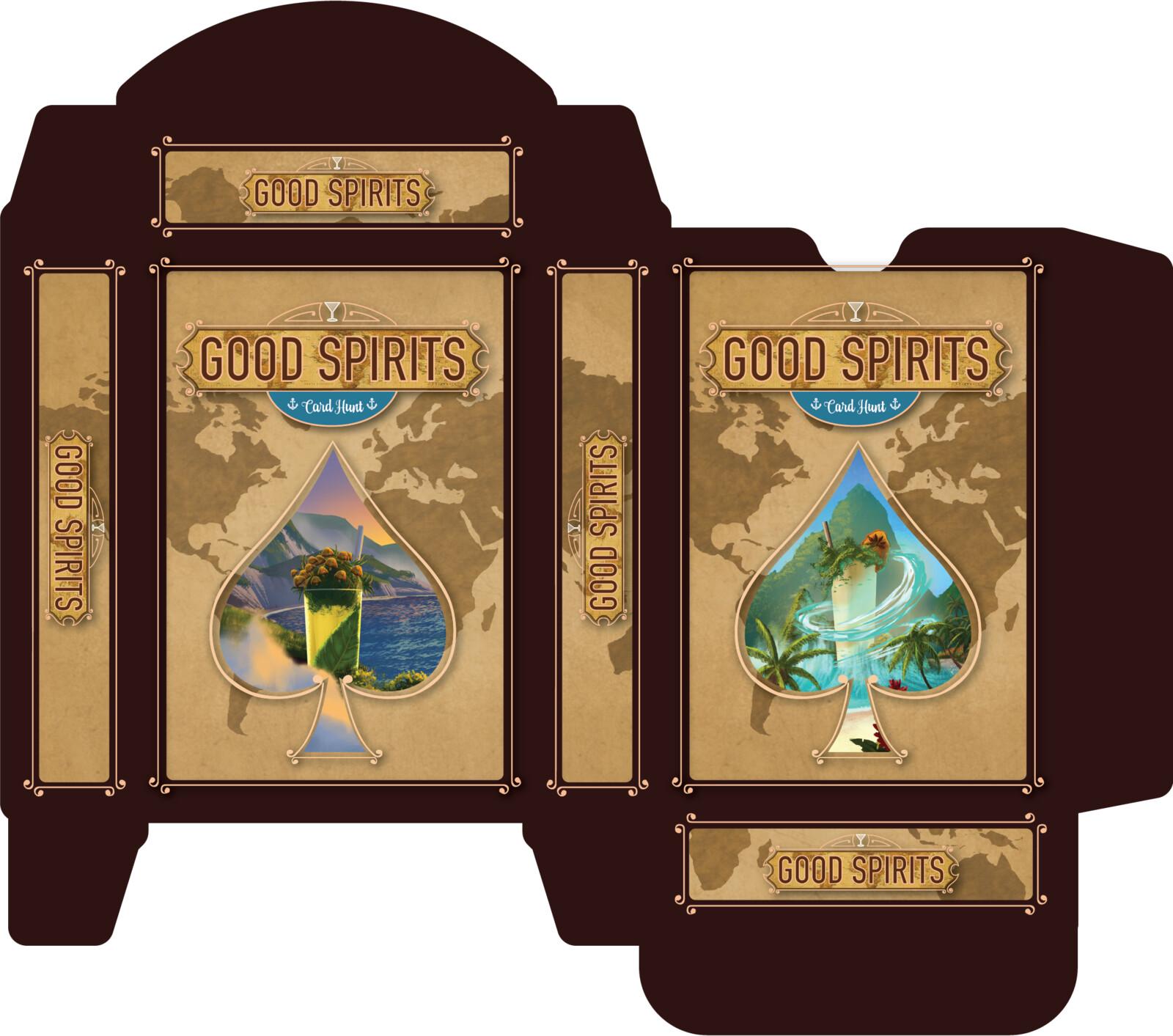 Tuck box design for poker card set.