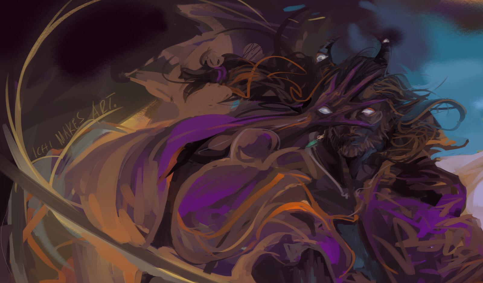 Iaron - violetfoxsketches.tumblr.com