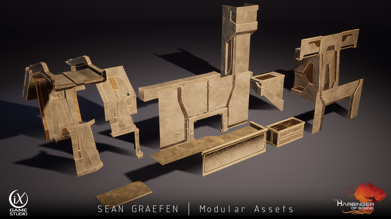 Here's the modular set from the Outlook Room.