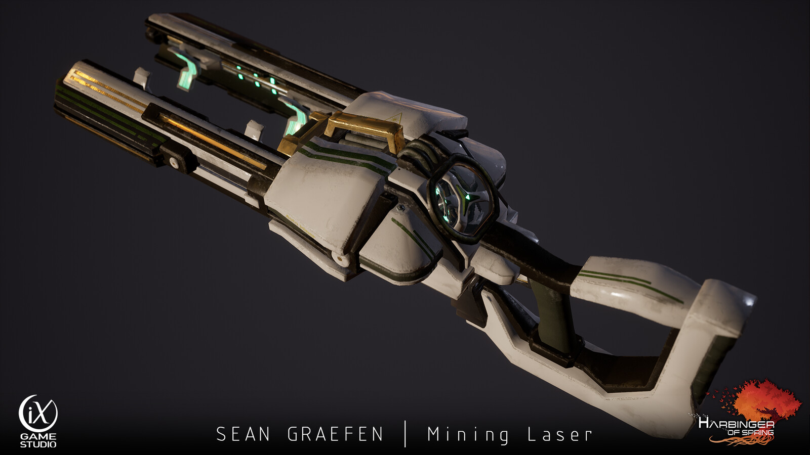 Weapon created for my most recent project, Harbinger of Spring.