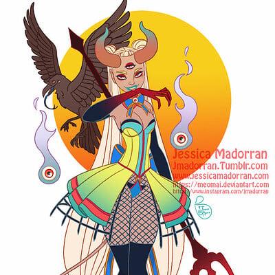 Jessica madorran character design eccc etsy postcard design 2020 artstation
