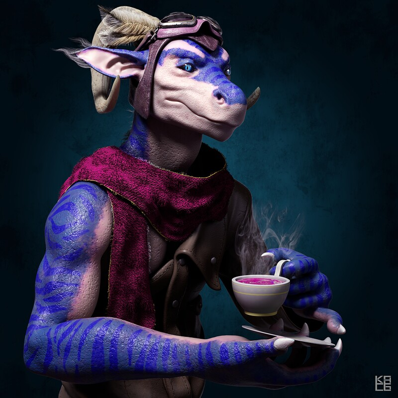 Tea Time 3D Rendition