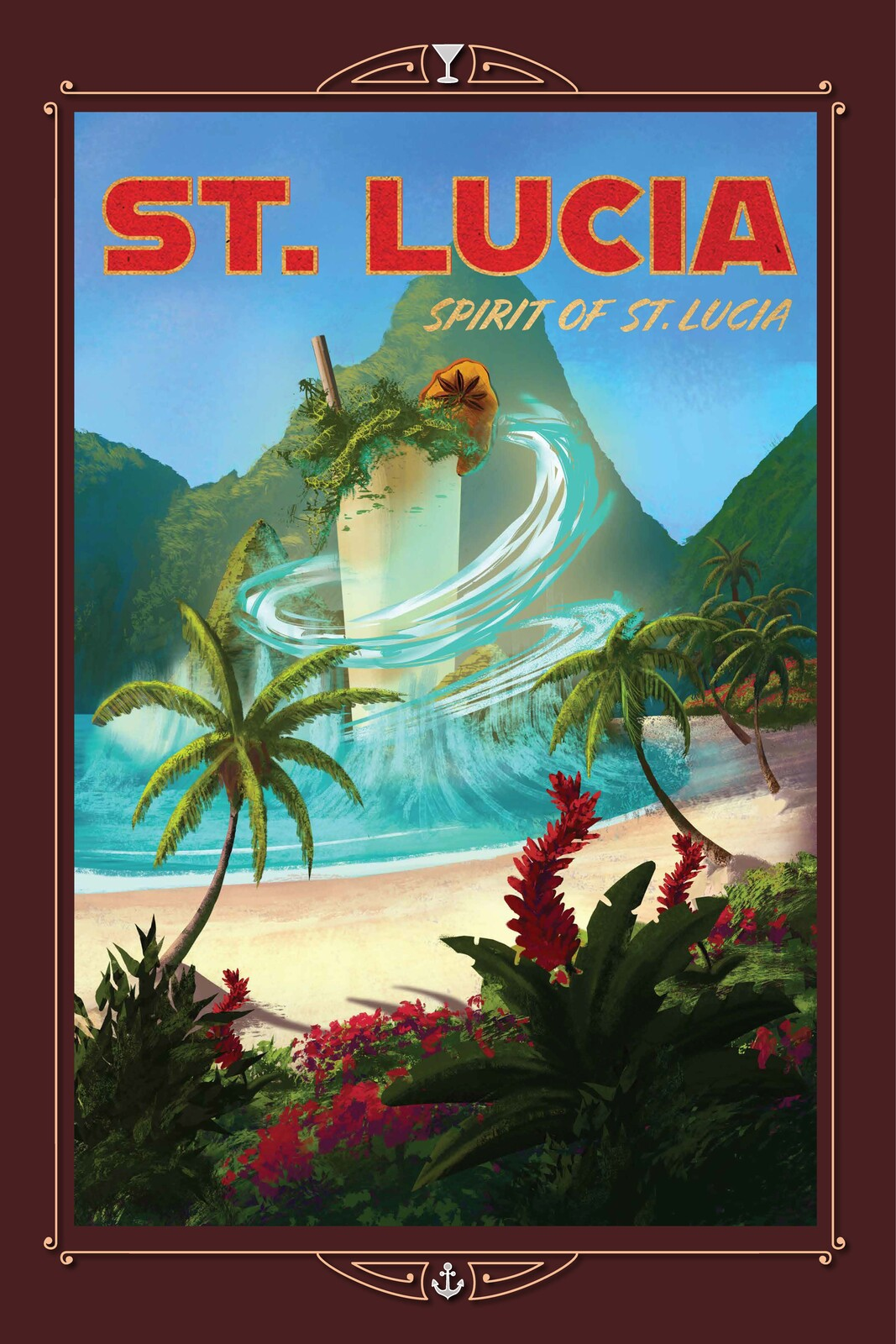 Spirit of St. Lucia cocktail from the Caribbean.
