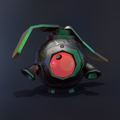 Adam idris copter dros stylized lowpoly game asset