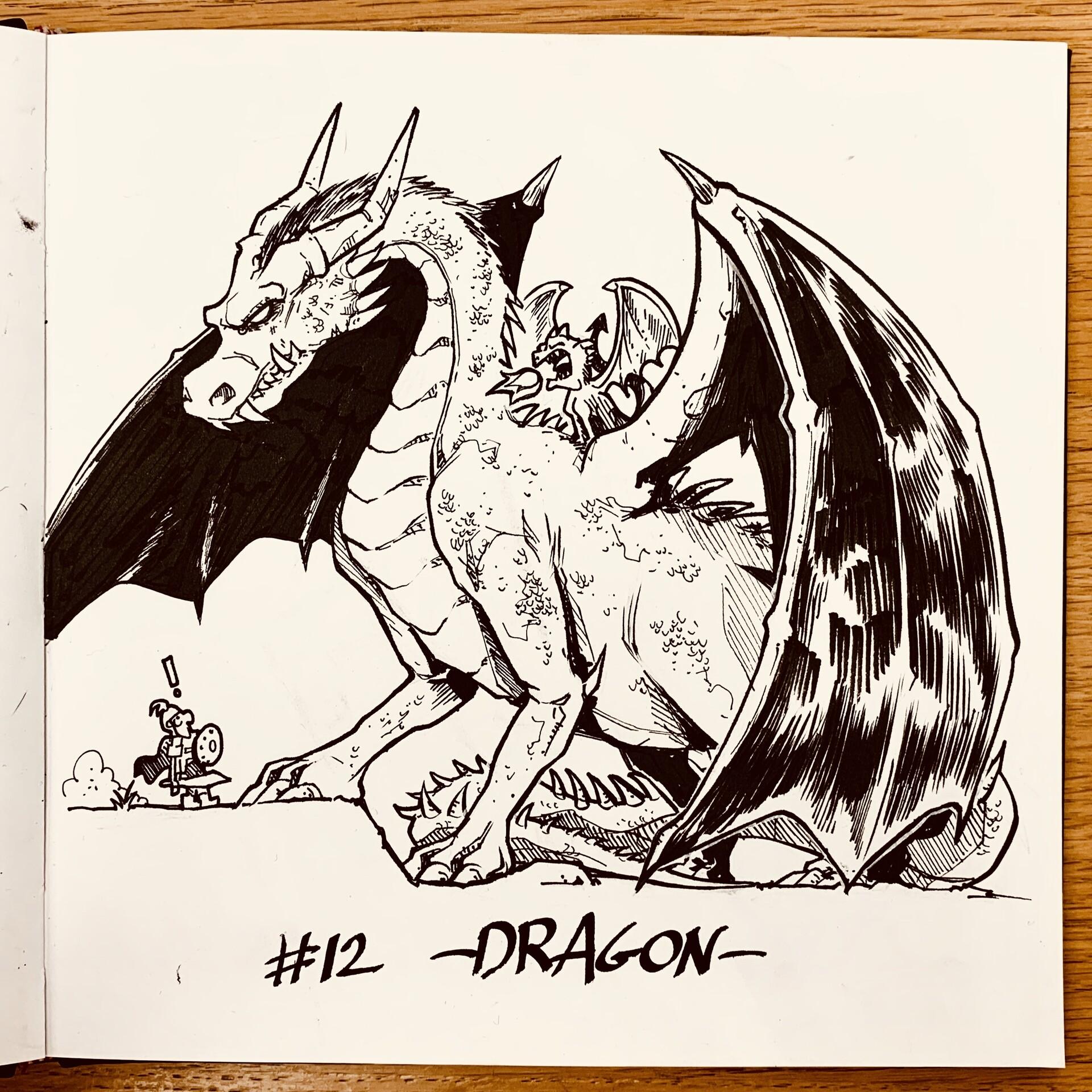 Inktober 2019: #12. Dragon