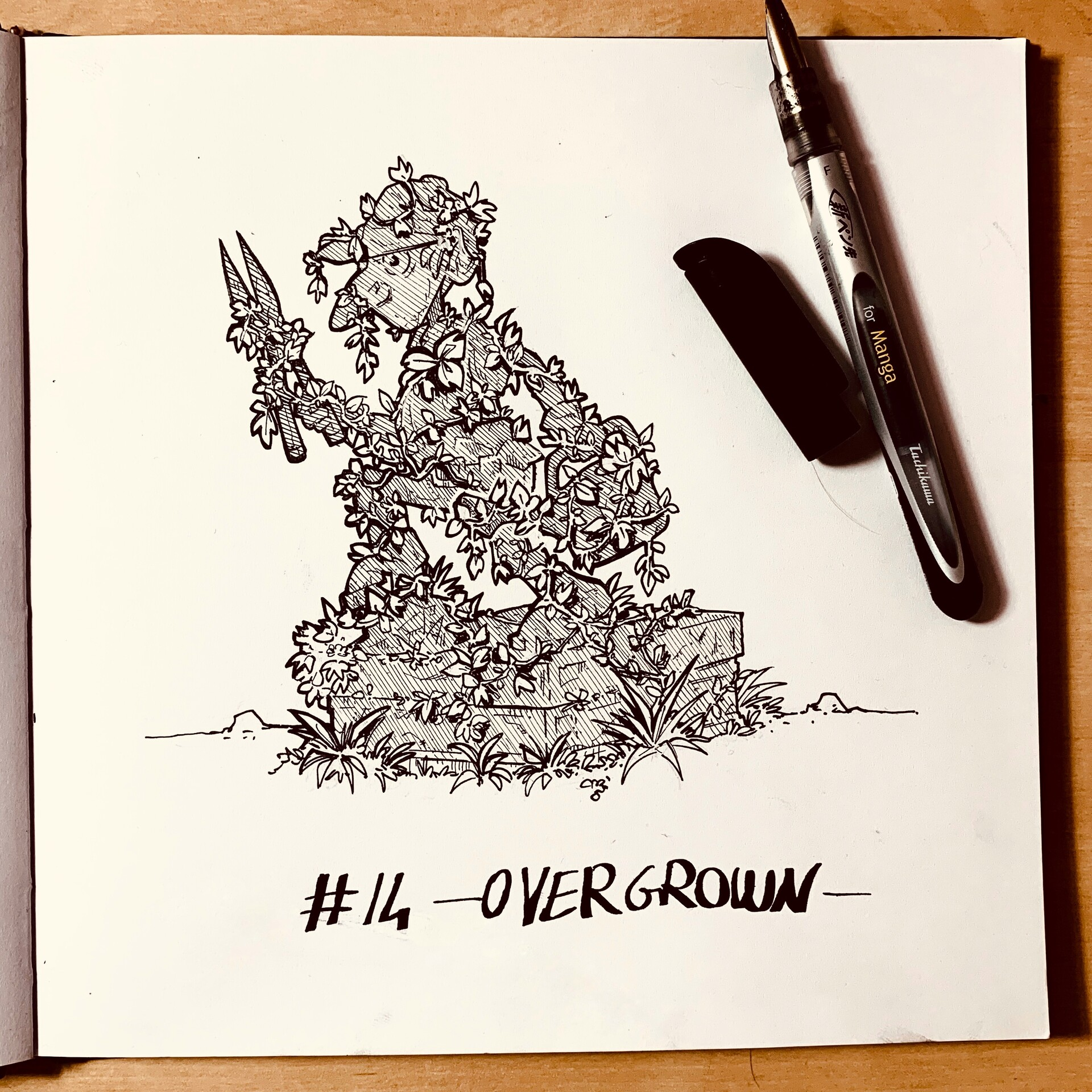Inktober 2019: #14. Overgrown
