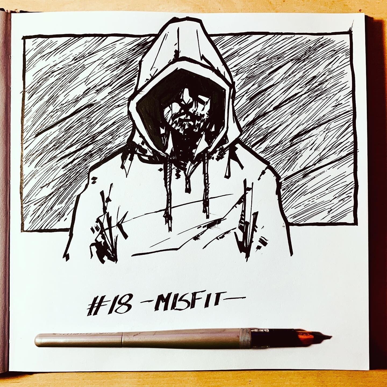 Inktober 2019: #18. Misfit