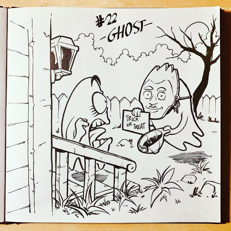 Inktober 2019: #22. Ghost