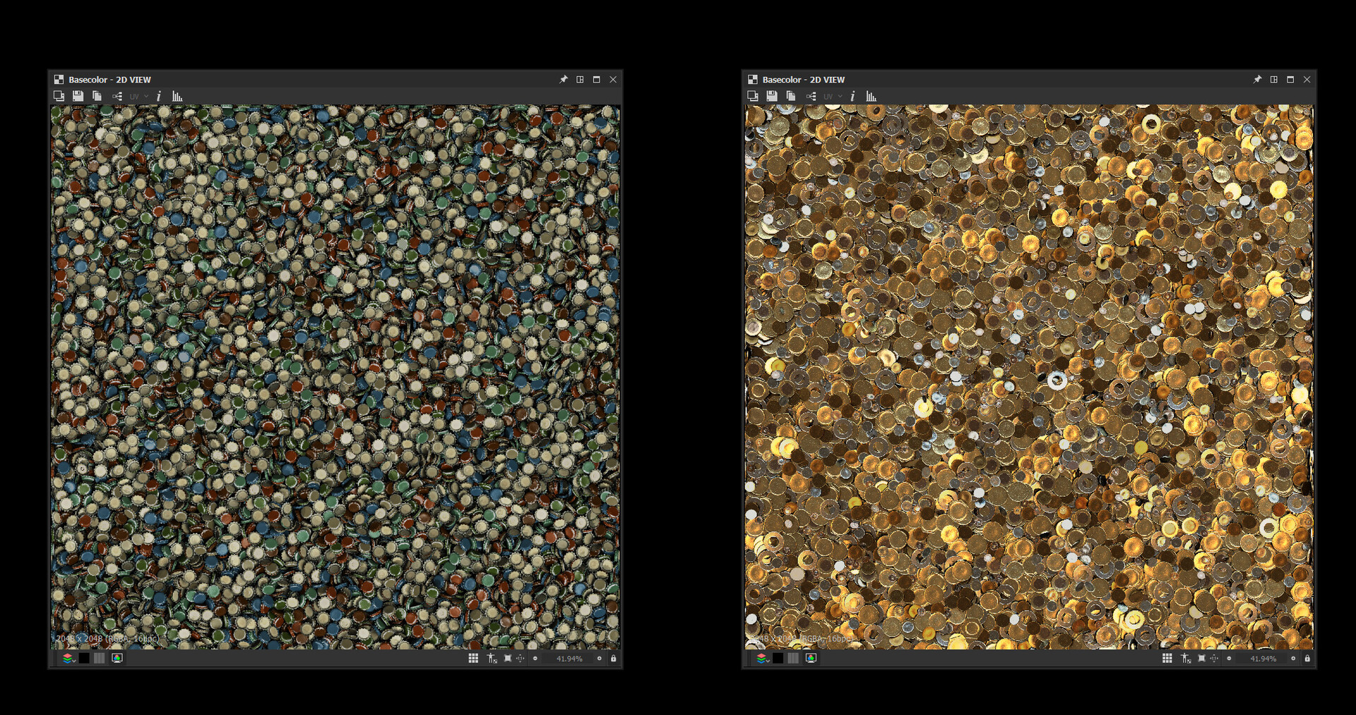 The rendered FinalColor output in Substance Designer.