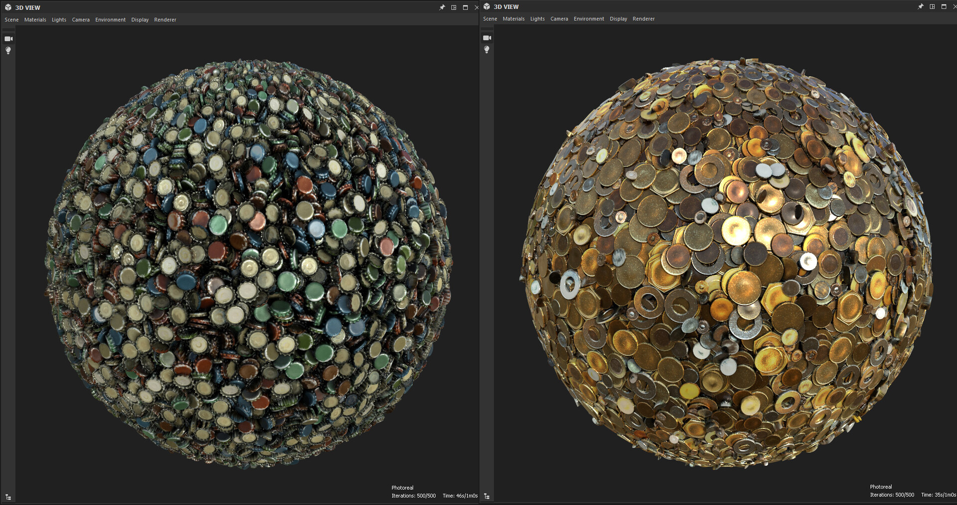 The final substances rendered in Substance Designer. (Updated.)