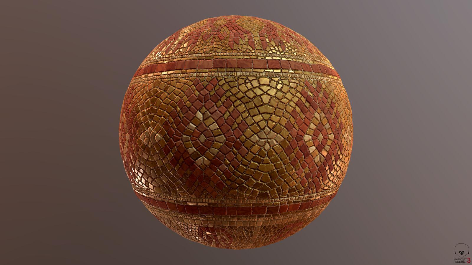 Golden Mosaic Material
