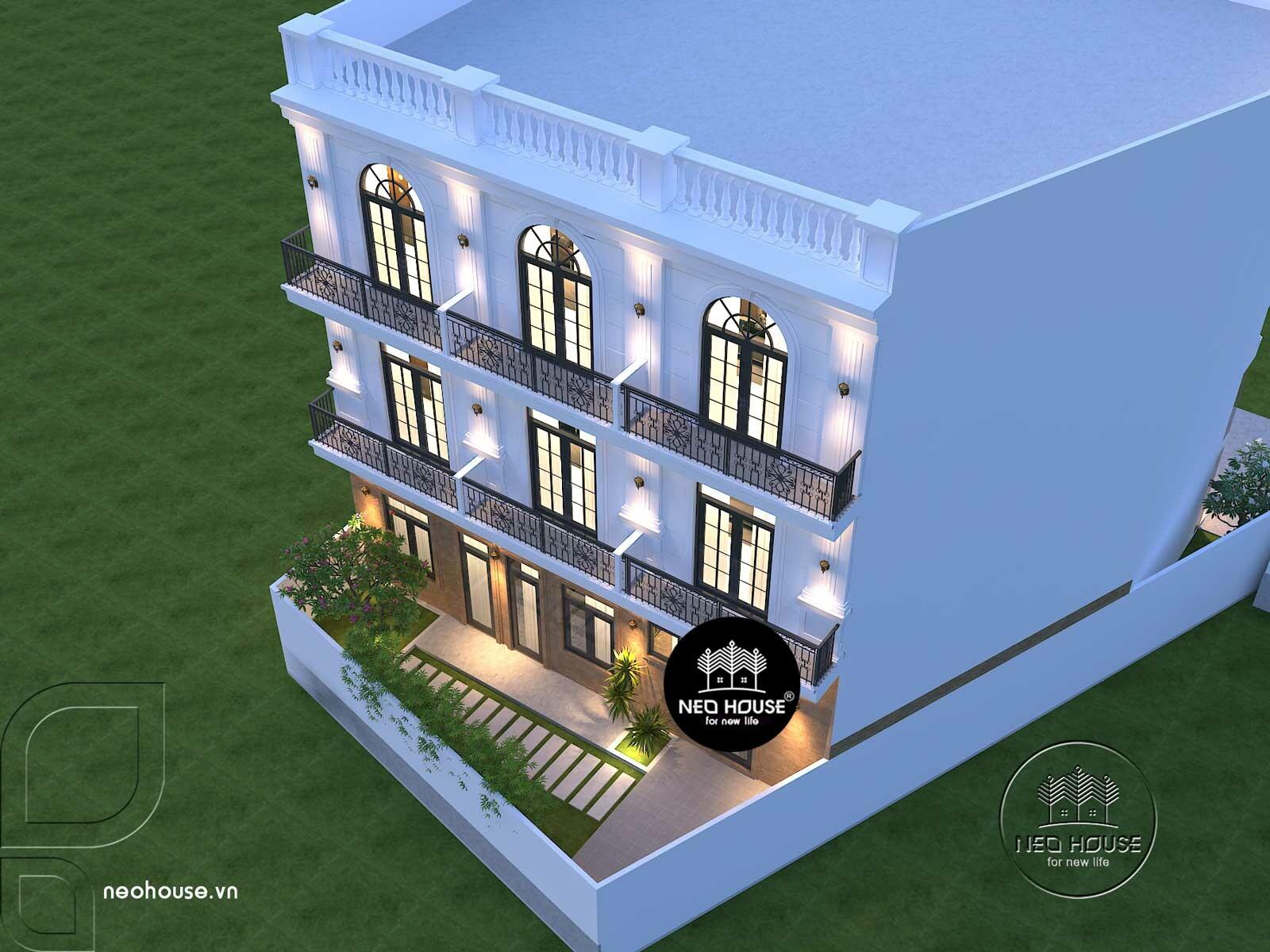 Thiết kế nhà nghỉ 4 tầng. Ảnh 2