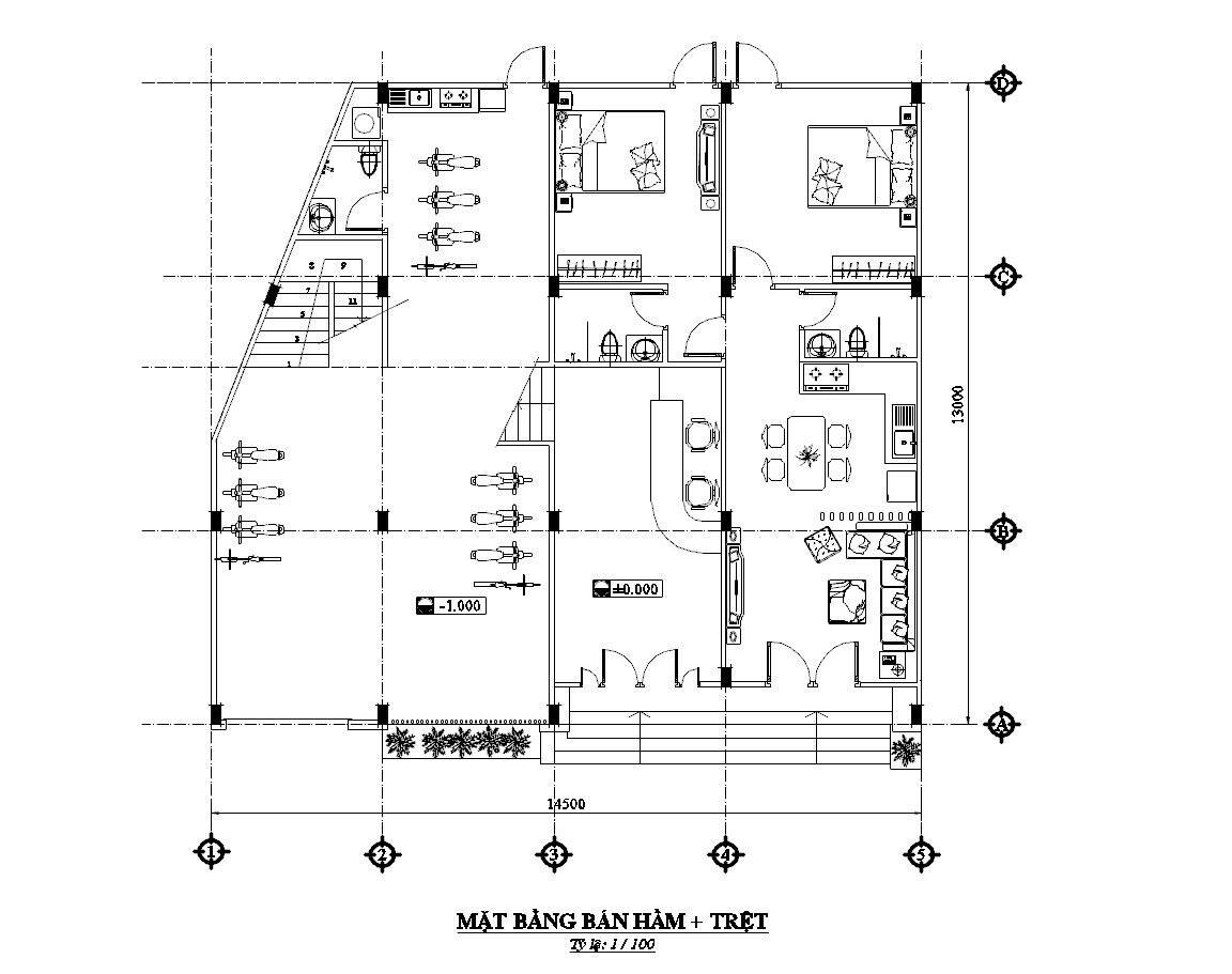 Thiết kế nhà nghỉ 4 tầng. Ảnh 6