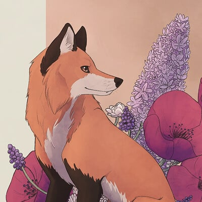 Sophie pfrotzschner 20 03 17 floral fox