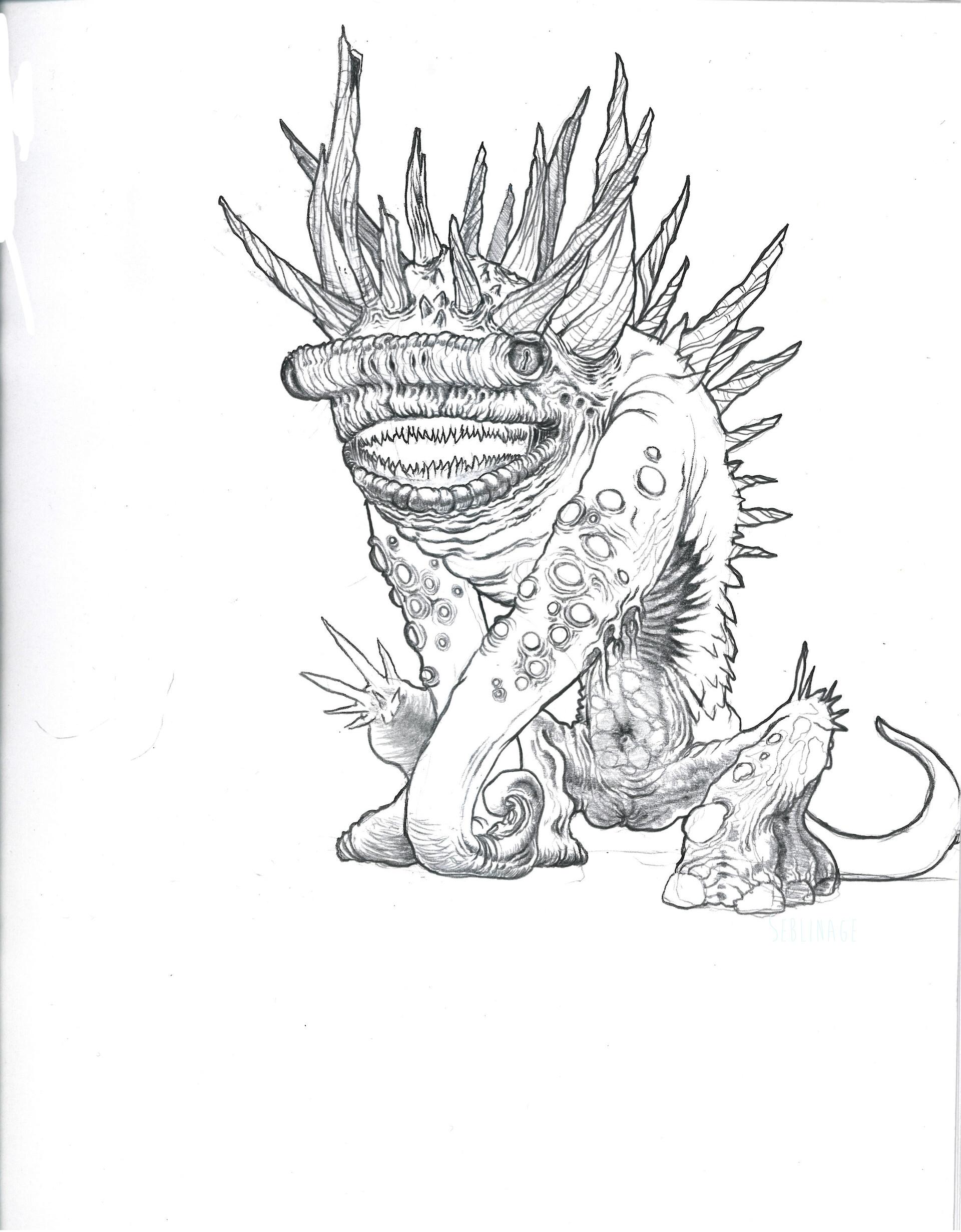 2d pencil drawing