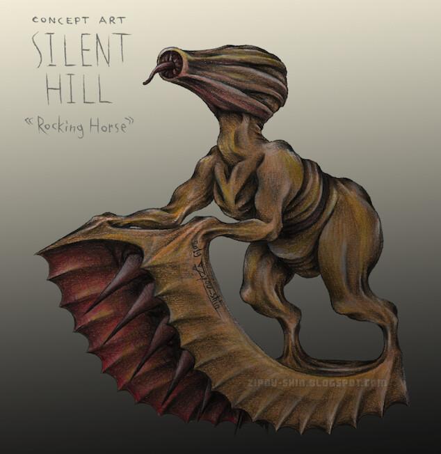 Artstation Rocking Horse Silent Hill Original Creature Design