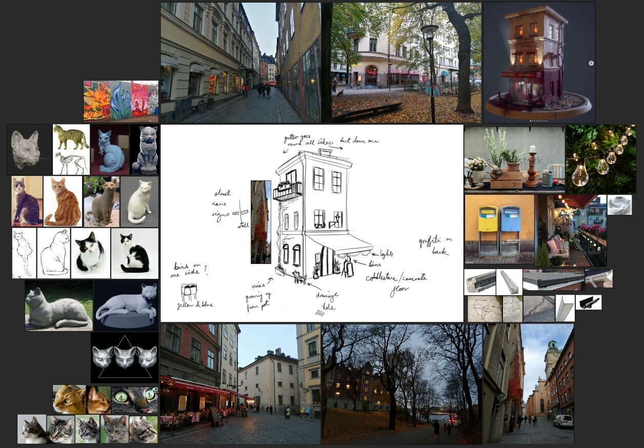 References French Café diorama (top right) by Christian Londsdale https://www.artstation.com/artwork/8lnbKR