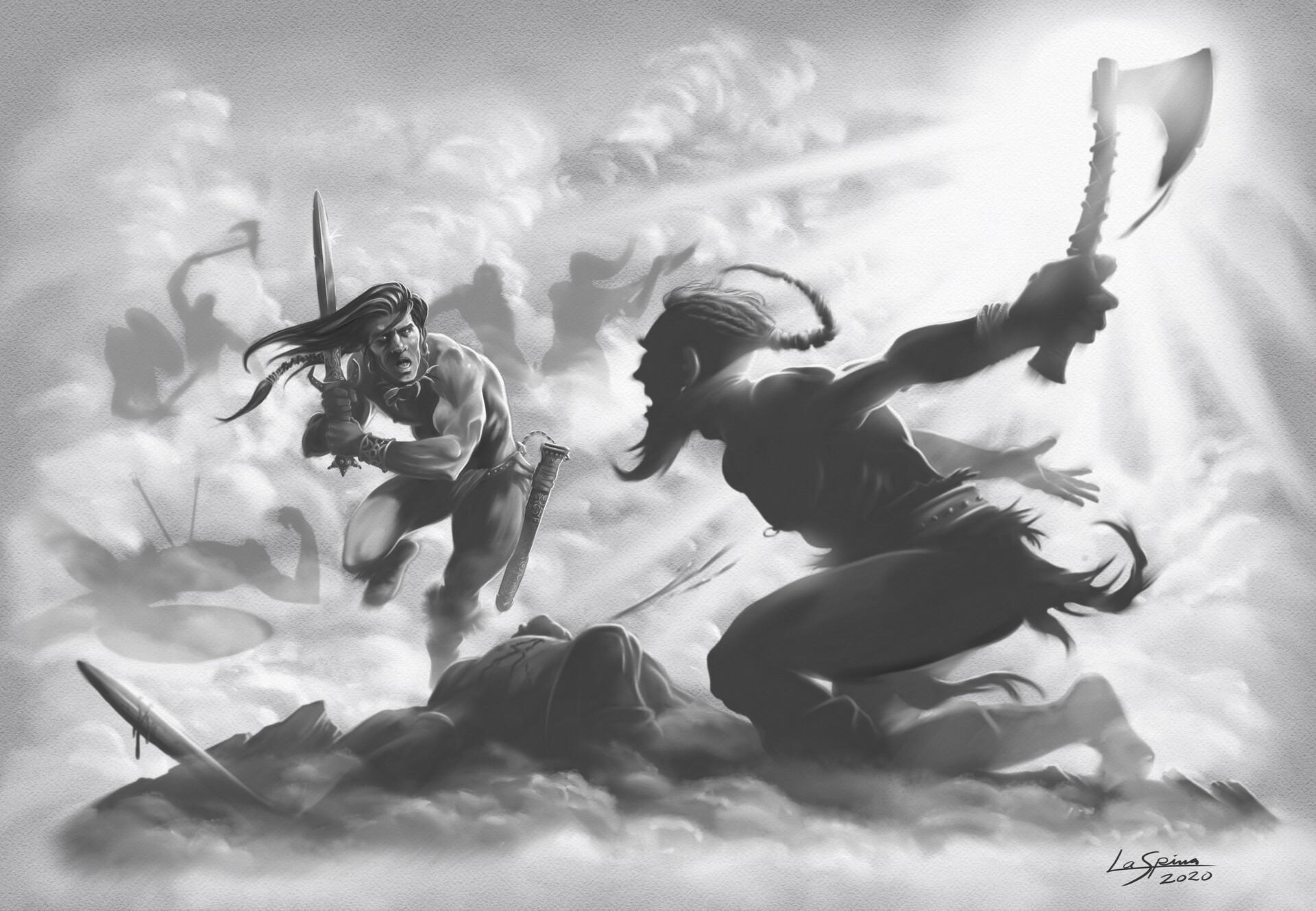 Charging Barbarian