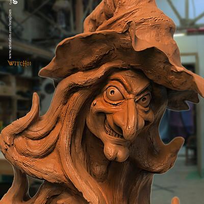 Surajit sen witch01 speed digital sculpt surajitsen march2020s