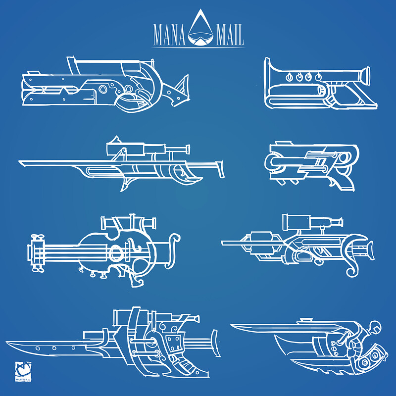 Some weapon designs