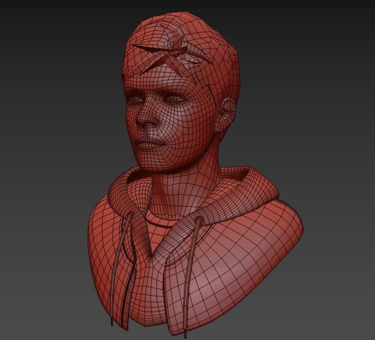Clay mode (Wireframe)