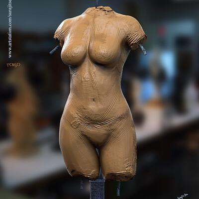Surajit sen female torso digital sculpture surajitsen march2020 a
