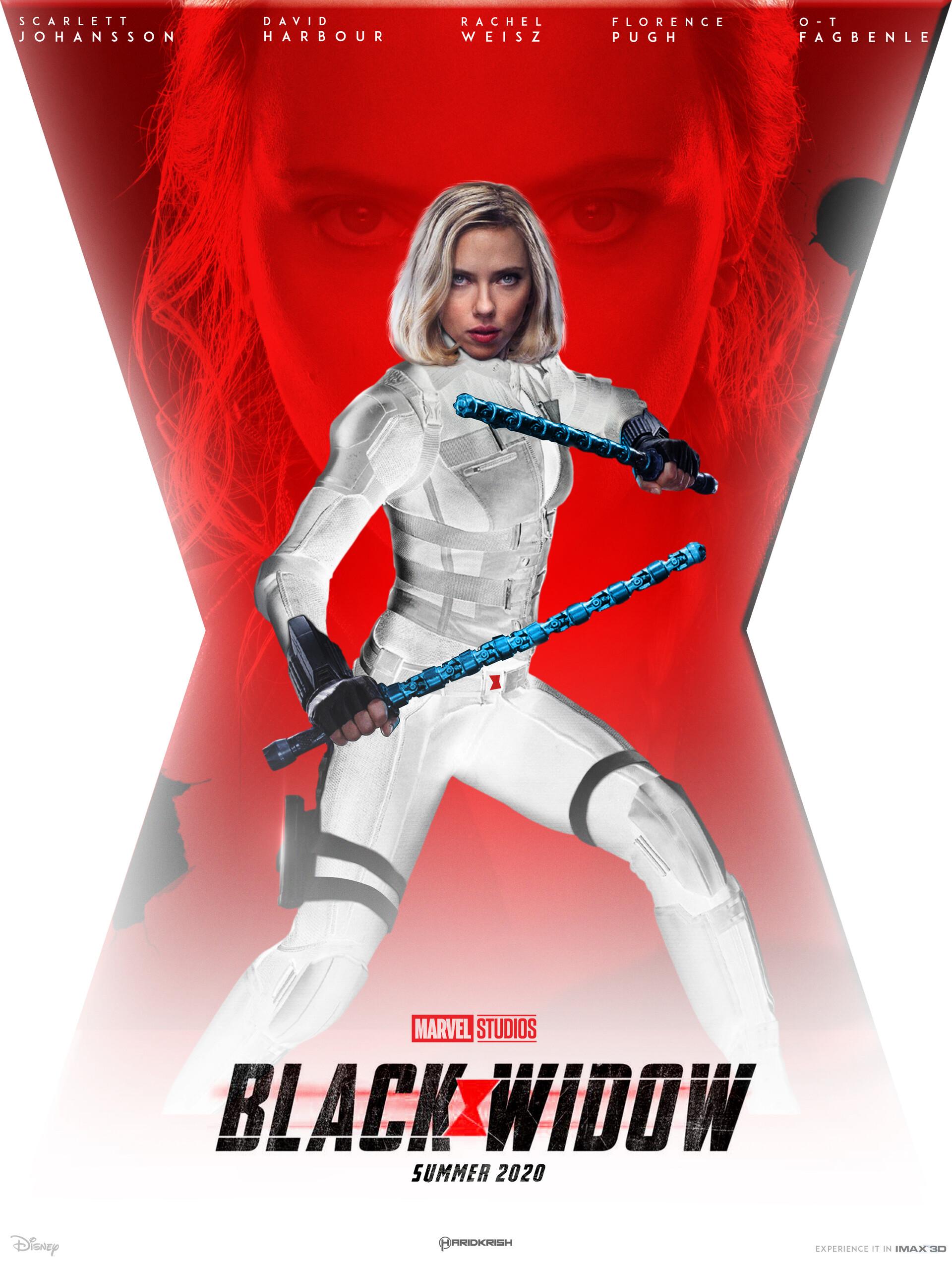 ArtStation - Black widow white suit, Hari Krish