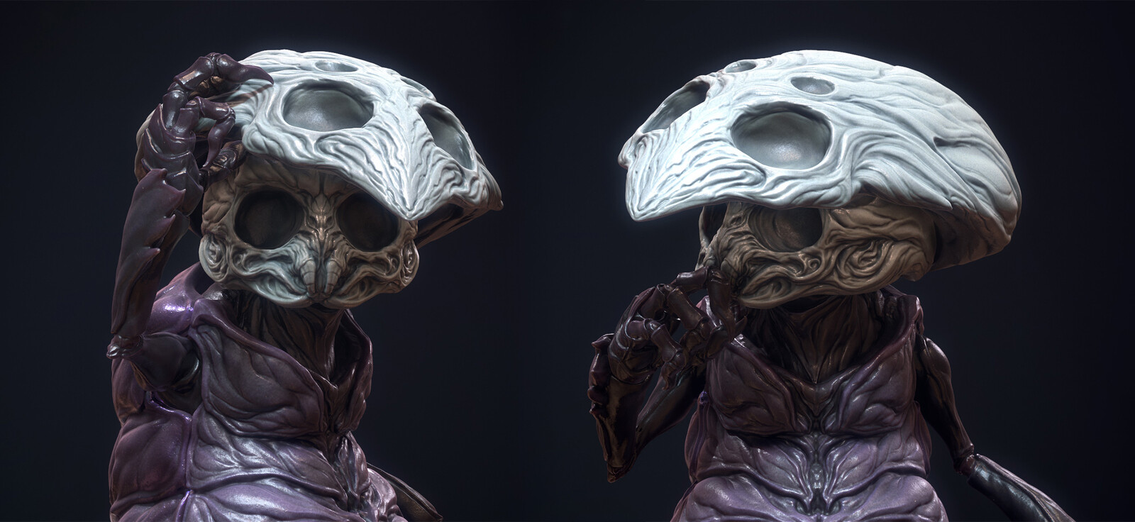 detail shots of the face with Monomon's Mask