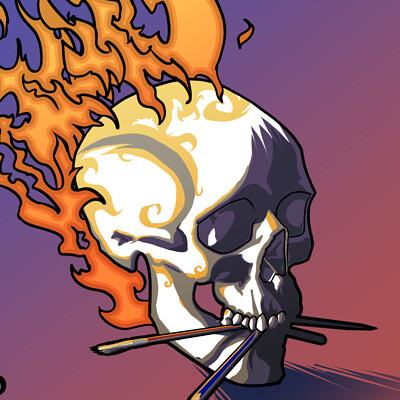 Lucas perdjan skull 001
