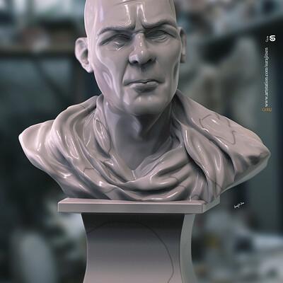 Surajit sen guru01 digital sculpture surajitsen march2020s