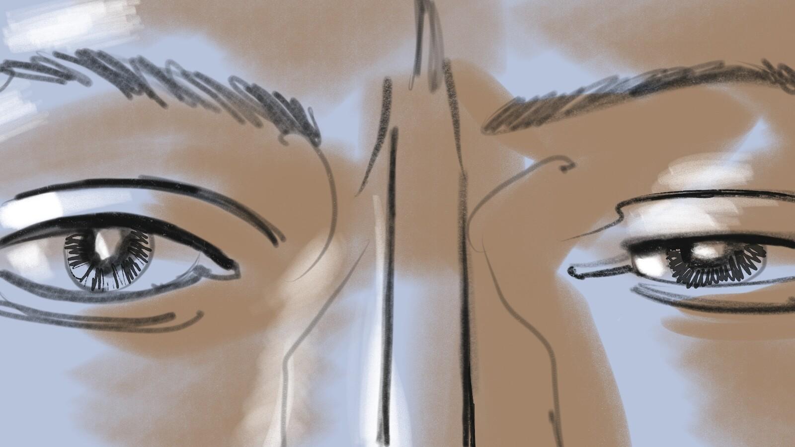 FRAME #9-ECU-Med- Floating: Haden focuses his eyes...