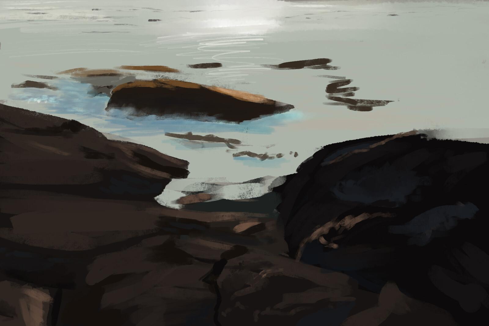 Rocky Shore Sketch