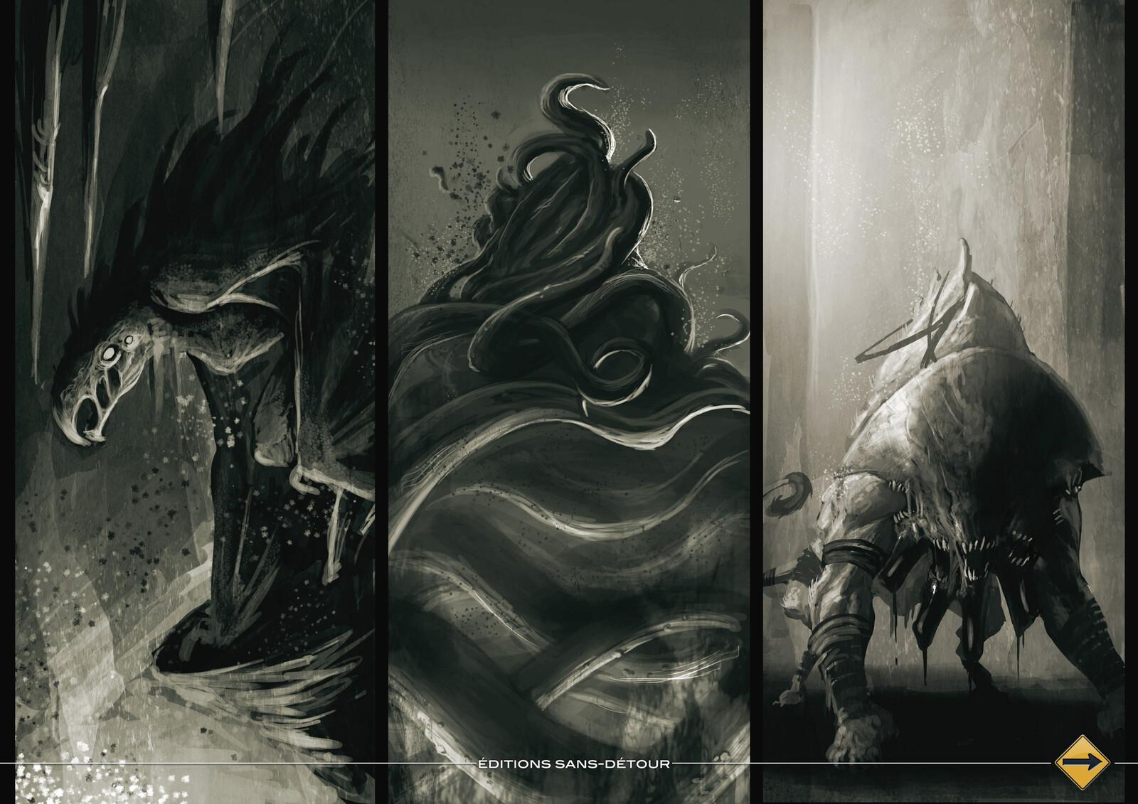 Byakhee,spawn of Nyarlathotep, black sphynx