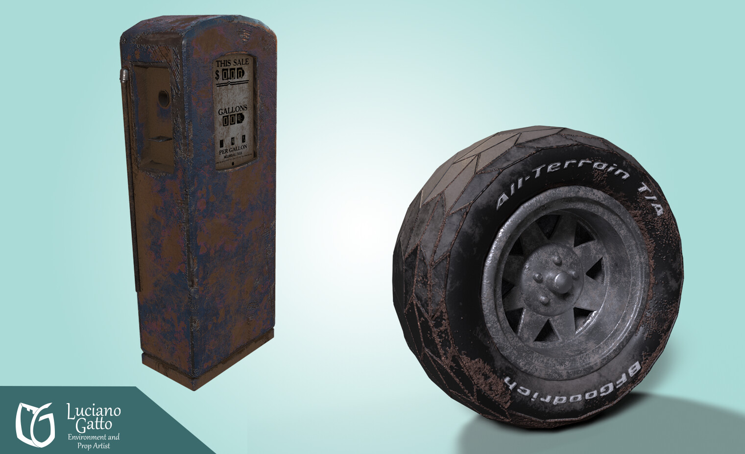 Wheel from the V8 Interceptor and Gas Pump