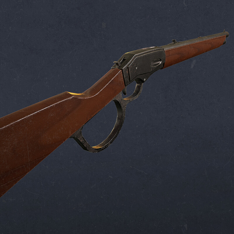 Winchester Rifle - Game model at Lethal Art Studio